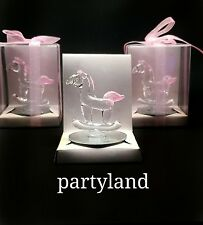 12 Crystal Pink Carousel Baby Shower Favors Girl Pink Crystal Favors
