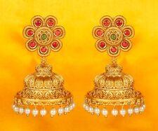 Indian Bollywood Fashion Jhumka Jhumki Earrings Set Gold Plated Wedding Jewelry