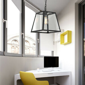 Large Chandelier Lighting Black Pendant Lights Home Ceiling Light Kitchen Lamp