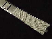 Vintage Stainless Steel Mesh Kreisler Dubl-clasp watch band 11/16 in 17.5mm