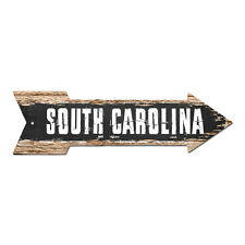 AP-0113 SOUTH CAROLINA Arrow Street Tin Chic Sign Name Sign Home man cave Decor