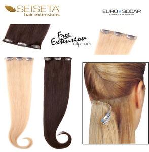 Extension Clip capelli veri SEISETA Fascia con 3 clip larga 12 lunga 55 cm Remy