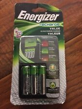 Energizer Value Charger 4 AA Rechargable Batteries Included CHVCMWB-4 NEW-  A1