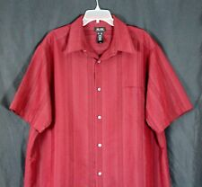 Axcess CHERRY RED 58%RAYON 42%POLY BUTTON DOWN SHORT SLEEVE CASUAL SHIRT Sz XXL