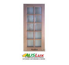 NEW SOLID TIMBER 10 LIGHT MAPLE FRENCH DOORS - MANY SIZES