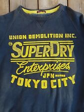 VTG Superdry Enterprises JPN Tokyo City Union Demolition INC Sweat Shirt Fleece