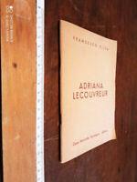 LIBRO: ADRIANA LECOUVREUR di Francesco Cilea   1955