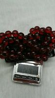 Pretty vintage antique Faturan Bakelite round beads necklace 126 g