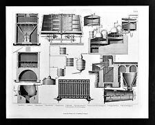 1874 Bilder Chemistry Print - Laboratory Various Distillation Apparatus Spirits