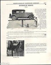 1943 ADVERT Globe Hydraulic Garage Repair Car Auto Lift Hoist Roll ON Type