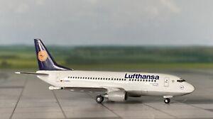 "Boeing 737-300 Lufthansa ""Reutlingen"" 1:500 mit OVP Herpa Wings Flugzeugmodell"