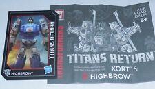 Transformers Titans Return HIGHBROW Figure's BIO and MANUAL