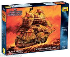 Black Pearl Captain Jack Sparrow Ship Pirates of the Caribbean 1/72 by Zvezda