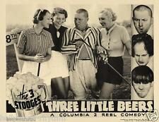 The 3 STOOGES CURLY Gals Playing Golf In THREE LITTLE BEERS 11x14 LC Print 1935