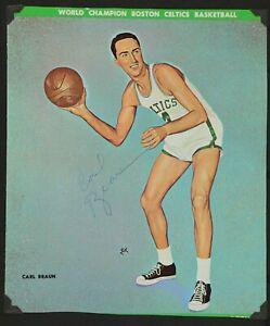 Boston Celtics Carl Braun AUTOGRAPHED Basketball Program Cover