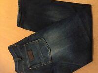 WRANGLER CRANK BLUE DENIM MENS SIZE w 34 L 30 jeans