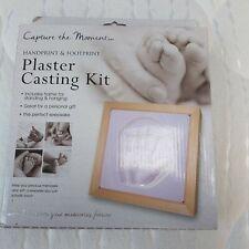 NIP Baby Christening birth plaster casting kit frame keepsake hand footprint