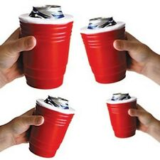 ( 4 ) RED CUP SOLO Kool Foam Beer Holder - Picnic Tailgate College Party Bar