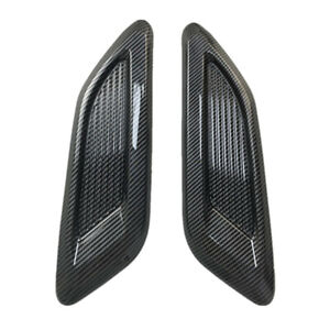 Glossy Carbon Fiber Car Hood Sticker Side Air Intake Flow Vent Cover ABS Plastic