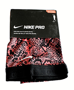 Nike Pro Calf Sleeves Size M/L Women's Red and Black