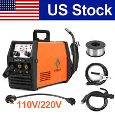 Hitbox 3 In1 Mig Welder 110v 220v Dual Volt Gasless Tig Arc Welding Machine