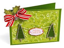 Sizzix Holly Background Emboss & Stamp set #657769 Retail $19.99 Retired BEAUTY!