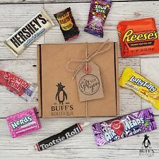 American USA Sweet Candy Hamper Gift Box Birthday Present Reeses Hershey Nerds!