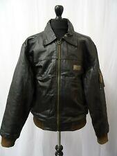Men's Vintage 786 USAF Military Industries Leather Flight Bomber Jacket L 44R