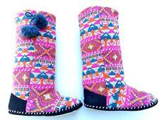 * SPORTSGIRL * Sz 8 M bright fluro woven high winter slipper boots!