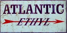 ATLANTIC ETHYL GARAGE SIGN . ALL WEATHER METAL SIGN, AGED LOOK, 600X295