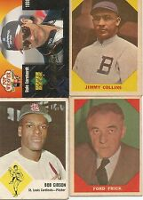 Vintage baseball cards Jimmy Collins  Bob Gibson  Ford Frick  Dale Earnhardt