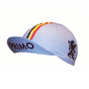 PRIMO LION OF FLANDERS VLAANDEREN RETRO VINTAGE CYCLING BIKE HAT CAP - Blue