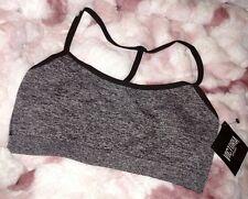 Small - Victorias Secret Sexy Black Marl T-back Seamless Sport Bra