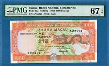 Macau, 1000 Patacas, 1988, Superb Gem UNC-PMG67EPQ, P63a