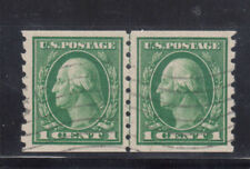 USA #412 Extra Fine Used Line Coil Pair **With Certificate**