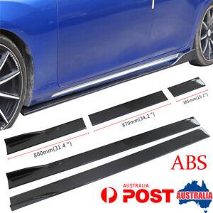 2M/78.7'' Carbon Fiber Look ABS Car Side Skirt Rocker Panel Extension Universal