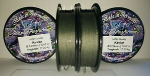 SoGo High Quality Kevlar® Vorfachschnur  Schwarz, geflochten Ø 0,18 bis 1,00mm