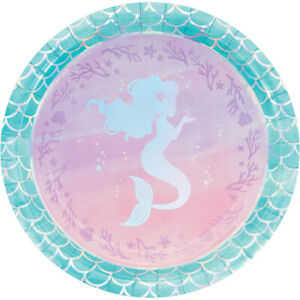 Mermaid Shine Birthday Party Supplies Balloon Plate Napkin Cup Decoration Favour