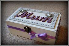 Wooden MUM Keepsake/ Jewelry/ Trinket Box Gift Mum Birthday Occasion Wedding