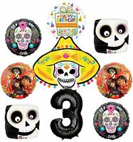 Coco Party Supplies 3rd Birthday Balloon Bouquet Decorations 9 pc
