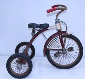 VTG AMF Junior Trike Art Deco MCM Kids Toy Steel Pedal Tricycle Airflow Design