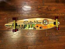 sector nine longboard skate board pin tail bamboo