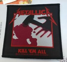 Metallica Patch New Rare Collectable Woven English Import