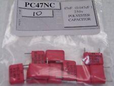 Condensador de poliéster de 10 piezas 473 = 0.047uF = 47nF 250v Wima CR37