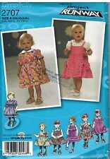 2707 UNCUT Simplicity Sewing Pattern Infant Dress Panties Project Runway Baby FF