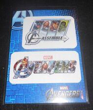 2012 Avengers Assemble Stickers Insert Trading Card #S18 Captain America