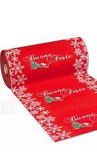 Passatoia rotolo 50mt Tappeto Natalizio Colore Rosso Con Babbo Natale E Albero