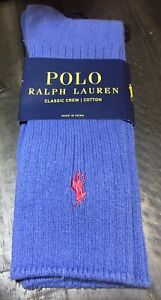 Polo Ralph Lauren  Classic Cotton Crew Sock with Polo Embroidery Royal Blue