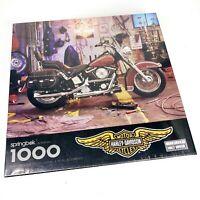 Vintage Harley Davidson 1994 Springbok 1000 Piece Puzzle Motorcycle New Sealed