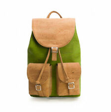 Cork Backpack - Vegan leather rucksack for women with pockets | Natural & green
